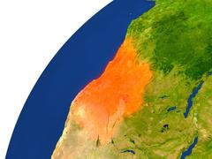 Country of Angola satellite view Stock Illustration