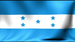 Honduras Flag. Background Seamless Looping Animation. 4K High Definition Video Stock Footage