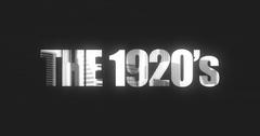 Popular Word Graphics Typography - 1920s Arkistovideo