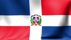 Dominican Republic Flag. Background Seamless Looping Animation. 4K High Stock Footage