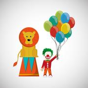 Circus and carnival design Stock Illustration