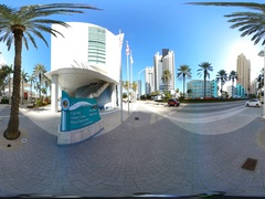 VR360 video Sunny Isles Beach Government Center Stock Footage