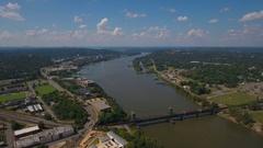 Aerial Arkansas Little Rock September 2016 4K Stock Footage
