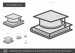 Knowledge line icon Stock Illustration