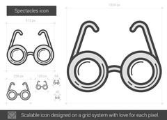 Spectacles line icon Stock Illustration
