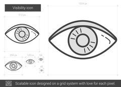 Visibility line icon Stock Illustration