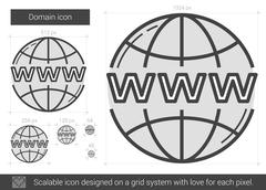 Domain line icon Stock Illustration