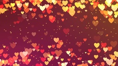 Romantic looping animation of hearts in warm colors Stock Footage
