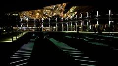 Luminous square of Barcelona Stock Footage