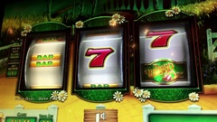 Motion of people playing slot machine inside Hard Rock Casino with 4k resolution Stock Footage
