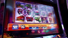 Motion of people playing slot machine inside Hard Rock Casino Stock Footage