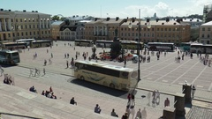 Helsinki, Finland. Senate square on a Sunny summer day, timelapse. Stock Footage