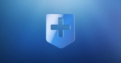 Medical Map Pin Blue 3d Icon Stock Footage