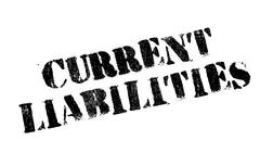 Current Liabilities rubber stamp Stock Illustration