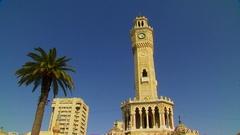 İzmir Clock Tower Stock Footage