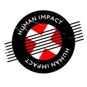 Human Impact rubber stamp Stock Illustration