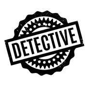 Detective rubber stamp Stock Illustration