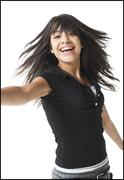 Teenager with tousled hair Stock Photos