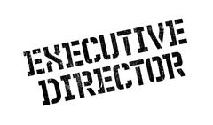 Executive Director rubber stamp Stock Illustration