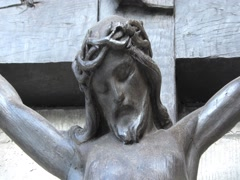 The statue of the crucified Christ. Stock Footage