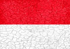 Grunge Style Indonesian National Flag Stock Illustration