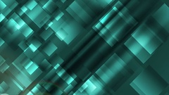 Abstract turquoise tech geometric squares video clip Stock Footage