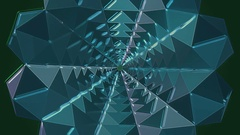Kaleidoscope tunnel in blue color Stock Footage