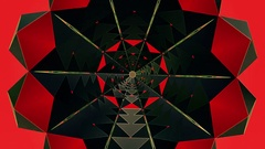 Kaleidoscope tunnel in red color Stock Footage