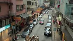 Side street scene in Hong Kong Stock Footage