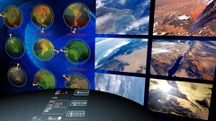 Center of Information.  Center for observation, tracking Stock Footage