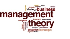 Management theory animated word cloud, text design animation. Stock Footage