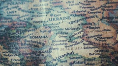 Europe Old Vintage Paper Map Stock Footage