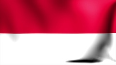 Indonesia Flag. Background Seamless Looping Animation. 4K High Definition Video Stock Footage