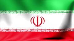 Iran Flag. Background Seamless Looping Animation. 4K High Definition Video Stock Footage