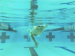 76 year old competitive swimmer Stock Photos