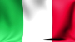 Italy Flag. Background Seamless Looping Animation. 4K High Definition Video Stock Footage