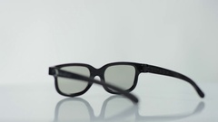 Eye wear at white background Stock Footage