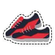 Spor shoes icon Stock Illustration