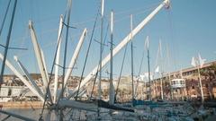 Porto Antico, Genova, Italy Stock Footage