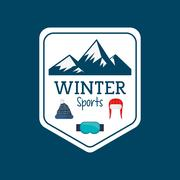 Winter sport season poster Stock Illustration