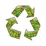 Eco friendly related icons image Stock Illustration
