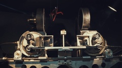 The old stereoscopic camera made 1953-1954 years Stock Footage