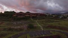 Aerial Sunset Kapiolani Community College Stock Footage