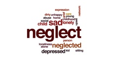 Neglect animated word cloud, text design animation. Stock Footage