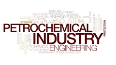 Petrochemical industry animated word cloud, text animation. Kinetic typography. Stock Footage