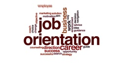 Job orientation animated word cloud, text design animation. Stock Footage