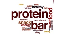 Protein bar animated word cloud, text design animation. Stock Footage