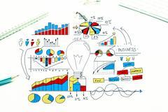 Plan for profitable business Stock Photos