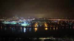 Luzniki stadion aerial view Stock Footage