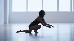 Young Woman Training Body Movements Stock Footage